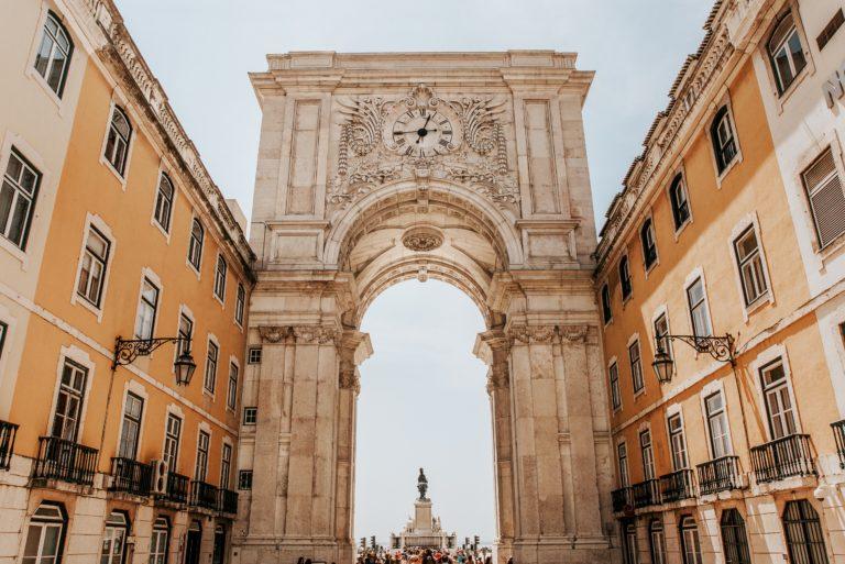 Rua Augusta Arch Lisbon